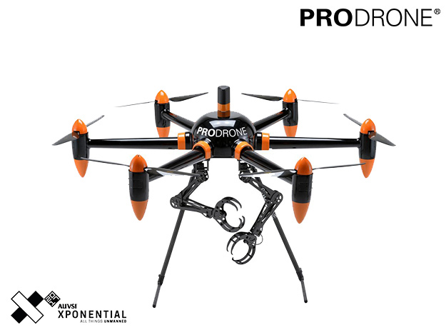 PRODRONE、産業用ドローン最大の展示会「AUVSI Xponential 2017」出展。アーム付きドローンに続き新コンセプトドローンも