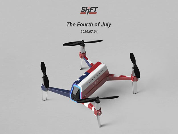 THIS IS ENGINEERING、独立記念日限定版ドローン「SHIFT RED」販売
